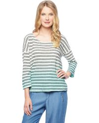 Splendid Stripe Dip Dye Pullover - Lyst