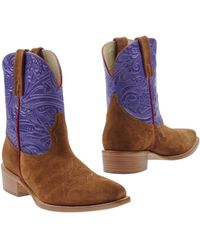 Etro Ankle Boots - Lyst
