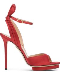 Charlotte Olympia | Sculpted Satin Sandals | Lyst