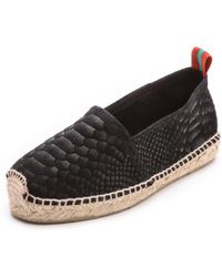 Penelope Chilvers - Sueded Snake Espadrille Flats Tan - Lyst