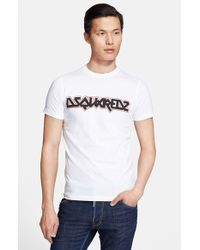 DSquared² 'Metal' Graphic T-Shirt white - Lyst