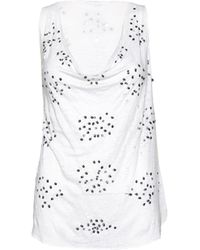 Alice + Olivia | Lucy Embellished Trapeze Top | Lyst