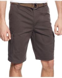 G.H.BASS - Belted Twill Cargo Shorts - Lyst