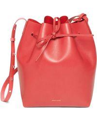 Mansur Gavriel Calf Bucket Bag red - Lyst