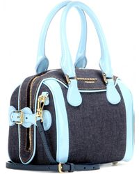 Burberry Prorsum - Mini Bee Denim and Patent-Leather Shoulder Bag - Lyst