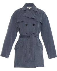 Vanessa Bruno Athé - Cotton and Linen-Blend Trench Coat - Lyst