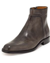 A.Testoni - Amedeo Testoni Washed Leather Zip-up Boot - Lyst