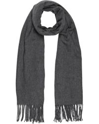 River Island Grey Supersoft Blanket Scarf - Lyst