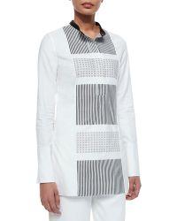 Edun Grid-Print Hand-Woven Tunic - Lyst