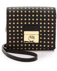 MILLY - Sienna Dots Mini Cross Body Bag - Black - Lyst