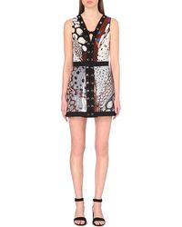 Roberto Cavalli Sequinned Lace-Up Mini Dress - For Women - Lyst