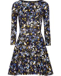 Erdem Vivi Printed Stretchcotton Mini Dress - Lyst