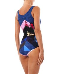 Preen By Thornton Bregazzi - Lang Flower Tile-Print Swimsuit - Lyst