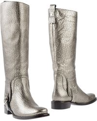 Celine Silver Boots - Lyst