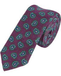 Barneys New York Paisley Pattern Velvet Tie red - Lyst
