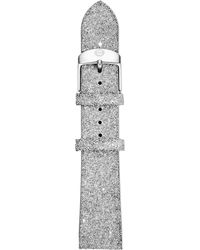 Michele - 16mm Crystal-covered Leather Strap - Lyst