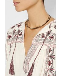 Isabel Marant Gold-plated Leather Necklace - Lyst