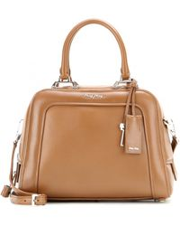 Miu Miu Boxy Leather Shoulder Bag - Lyst