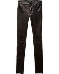 J Brand | Leather Stack Skinny | Lyst