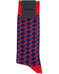 Duchamp Mega Diamond Cotton Socks - For Men - Lyst