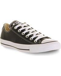 Converse All Star Leather Low-top Trainers - Lyst