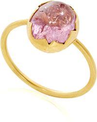 Annette Ferdinandsen - Pink Imperial Topaz Egg Ring - Lyst