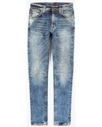 """Nudie Jeans 32"""" Lean Dean Jean blue - Lyst"""