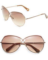 Diane von Furstenberg Crisscross Aviator Sunglasses - Lyst