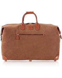 Bric's Life Camel Micro-Suede 22 Duffle Bag - Lyst