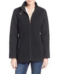 Jones New York - Mix Quilt Stand Collar Jacket - Lyst