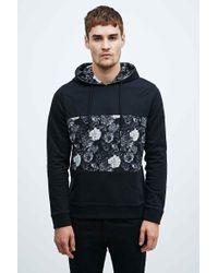 Worland - Mesh Floral Hoodie In Black - Lyst
