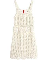 H&M Crocheted Dress - Lyst