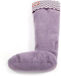 Hunter | Brick-knit Cuffed Boot Socks | Lyst