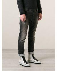 Diesel Gray Krooley Jeans - Lyst