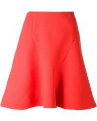 Roland Mouret Heligan Skirt red - Lyst