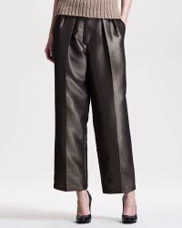 The Row Metallic Bronze Wideleg Pants - Lyst