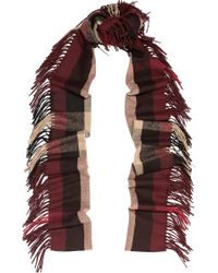 Burberry Prorsum - Checked Cashmere Scarf - Lyst
