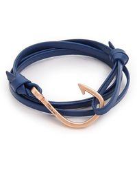 Miansai Hooked Leather Wrap Bracelet - Lyst