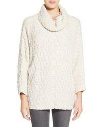 Chelsea28 Nordstrom Fluffy Turtleneck Sweater - White