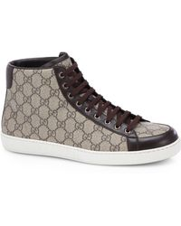 Gucci Gg Supreme Canvas High-Top Sneakers - Lyst