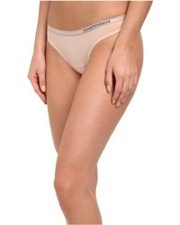 Emporio Armani Lace Bon Bons All-over Lace Thong - Lyst