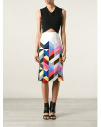 Preen By Thornton Bregazzi Tile Print Pencil Skirt - Lyst
