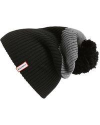 HUNTER - 'moustache' Pompom Hat - Lyst