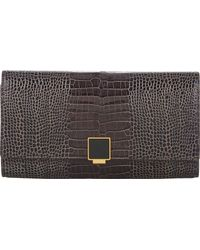 Smythson Mara Travel Clutch - Lyst