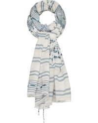 Sandwich - Cotton Striped Scarf - Lyst
