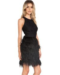 Milly Blair Feather Dress - Lyst
