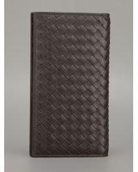 Bottega Veneta Woven Leather Coat Wallet - Lyst