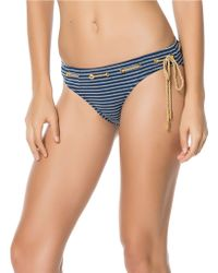 Jessica Simpson Classic Striped Hipster Bottom - Blue