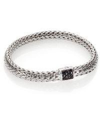 John Hardy Classic Chain Black Sapphire & Sterling Silver Medium Bracelet - Lyst
