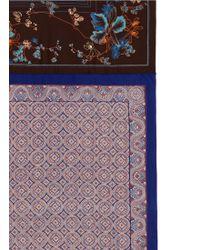 Ibrigu - One Of A Kind Patchwork Kaleidoscope Silk Scarf - Lyst